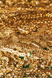 Pile of golden chains Royalty Free Stock Images