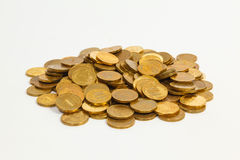 A lot of golden coins Stock Photography