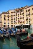 A lot of gondola boats stock photos