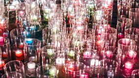 Lot of grass and light from candle fire flame. Using in recapture celebration Stock Photo