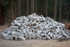 Lot of gray bricks Stock Photography