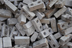 Lot of gray bricks Royalty Free Stock Photo