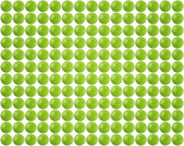 Lot of green pills. On white background Stock Photography