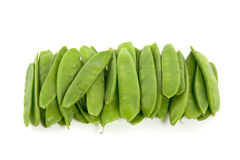 A lot of green pods Royalty Free Stock Photography