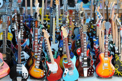 Lot Of Guitars Royalty Free Stock Images