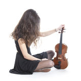 A lot of hair and a violin Royalty Free Stock Images