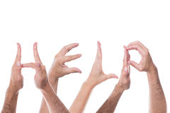 Lot of hands form the word help Royalty Free Stock Photography
