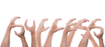 Lot of hands form the word success Royalty Free Stock Photos