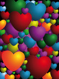 It is a lot of hearts Royalty Free Stock Image