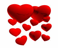 A lot of hearts. On a white background Royalty Free Stock Photos