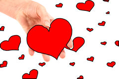 A lot of hearts Stock Image
