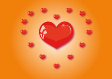 A lot of hearts Royalty Free Stock Image