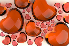 A lot of hearts Stock Photo