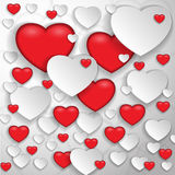 It is a lot of hearts Stock Photo