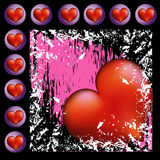 A lot of Hearts with pink background Stock Photography