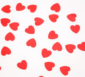 A lot of hearts on a white background Stock Photos