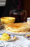 Lot of homemade pancakes Stock Image