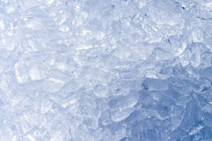 A lot of ice tube for  eat and cool drinking with water in the b Royalty Free Stock Image