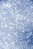 A lot of ice tube for  eat and cool drinking with water in the b Stock Images