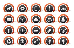 Lot of icons Royalty Free Stock Images