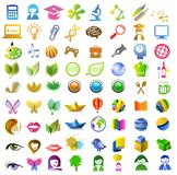 A lot of icons Stock Photography