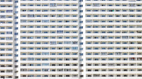 A lot of identical windows in a huge building Royalty Free Stock Image