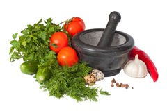 A lot of isolated fresh vegetables Royalty Free Stock Image