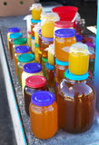 A lot of jars of honey Royalty Free Stock Images
