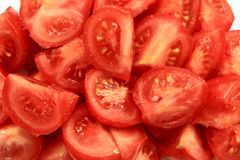 A lot of juicy red tomatoes Stock Photos