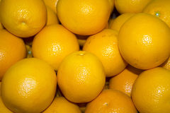 A lot of juicy, ripe oranges closeup Royalty Free Stock Photos