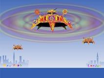 Lot kosmiczny od Londyn Nowy Jork Obrazy Royalty Free