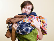 A lot of laundry Royalty Free Stock Photo