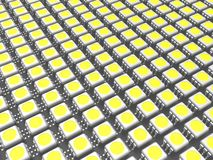 It is a lot of LED chip. Computer generated image (3d render royalty free illustration