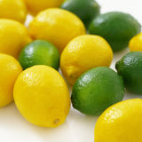 A lot of lemons and limes Royalty Free Stock Image