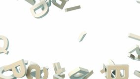 A lot of letters falling from the sky. Education and culture concept. 3d Stock Photography