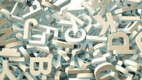 A lot of letters falling from the sky. Education and culture concept. 3d Royalty Free Stock Photos