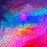 Lot of little balls pattern background - neon full color spectrum colored Stock Images