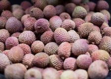 A lot of lychees Stock Photography