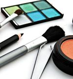 Lot of makeup for the face Royalty Free Stock Images