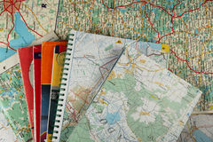 A lot of maps. As a background royalty free stock photo