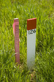Lot Markers In new Residential Development Royalty Free Stock Photo
