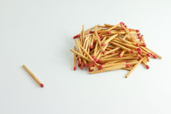 A lot of matches Stock Photo