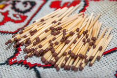 Lot of matches Royalty Free Stock Photos