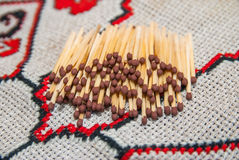 Lot of matches Royalty Free Stock Images