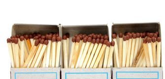 A lot of matches in a box Royalty Free Stock Photo