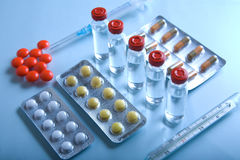 Lot of medicines Stock Image