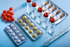 Lot of medicines Stock Photos