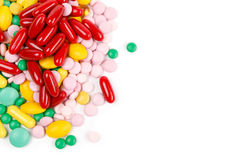 Lot of medicines, copyspace Stock Image