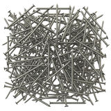 A lot of metal nails. The effect of depth of field stock illustration