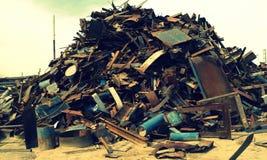 Huge amount of scrap metal stock photo